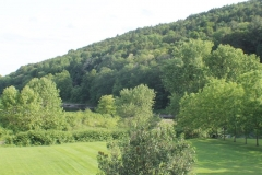 View of the hills from the back of the house